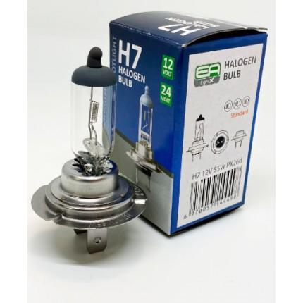 Галогенная лампа EA Light X H7 12V 55W PX26d CLEAR