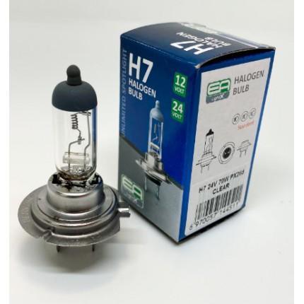 Галогенная лампа EA Light X H7 24V 70W PX26d CLEAR