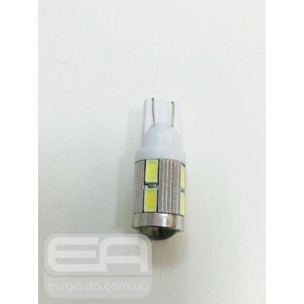 Светодиодная лампа T-10 10SMD (линза) 5630