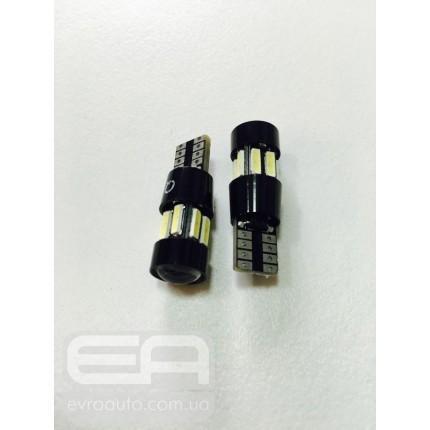 Светодиодная лампа T-10 10SMD (линза) Canbus 7014
