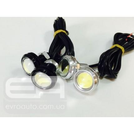Дневные ходовые огни DRL EA Light X Black Eagle Eyes (орлиный глаз) Silver (blak) 3w