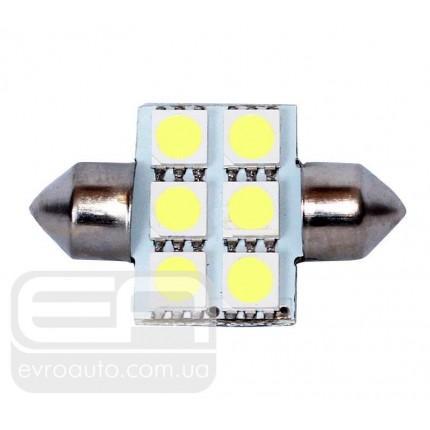 Софитная светодиодная лампа SVS SJ-31 6SMD 31 мм