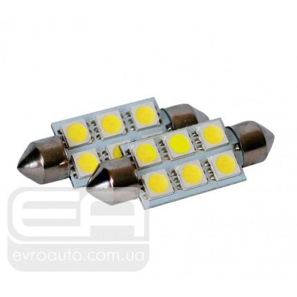 Софитная светодиодная лампа SVS SJ-41 6SMD 41 мм