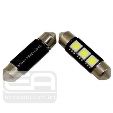 Софитная светодиодная лампа SVS T10-31 3SMD 36 мм