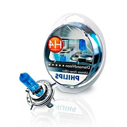 Комплект галогенных ламп Philips Diamond Vision H4 5000K 12V 55W
