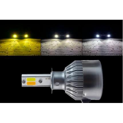 Комплект LED ламп EA Light X C6 WY H7 Hi/Low 6000K 3800Lm