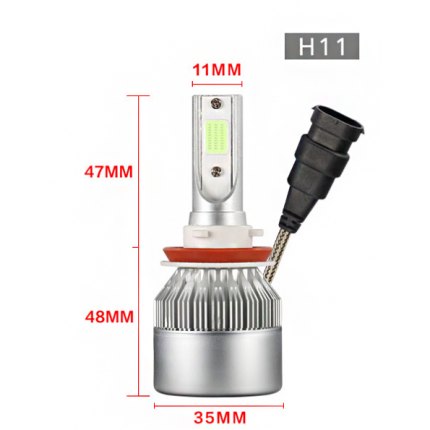Комплект LED ламп EA Light X C6 H11 Hi/Low 6000K 3800Lm