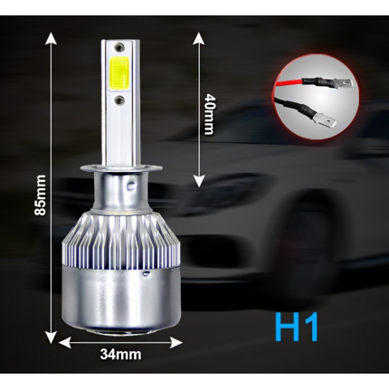 Комплект LED ламп EA Light X C6 H1 Hi/Low 6000K 3800Lm