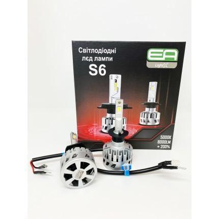 Комплект LED ламп EA Light X S6 H-1 12V-36V 30W 5000K 8000Lm