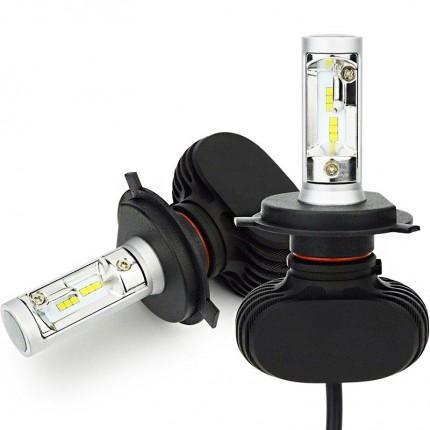 Комплект LED ламп Led Headlight S1 CSP H4 H/L 5000K 4000Lm