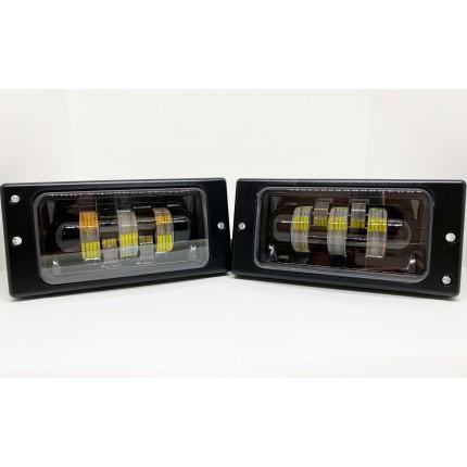 Комплект светодиодных противотуманных фар LED ВАЗ 2110-2115 белый+желтый 40W