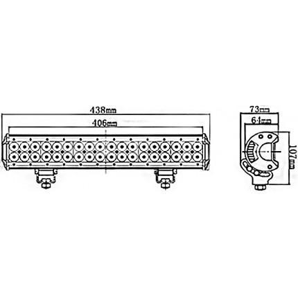 Светодиодная балка EA Light X C4 108W Дальний/Ближний