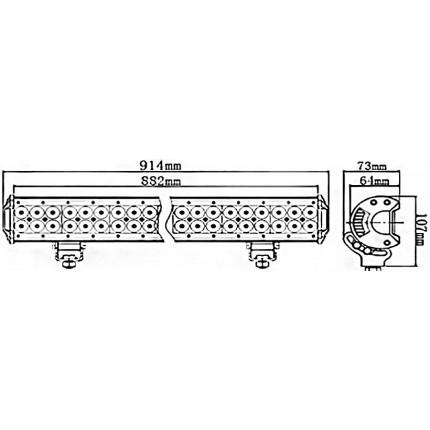 Светодиодная балка EA Light X C4 234W Дальний/Ближний