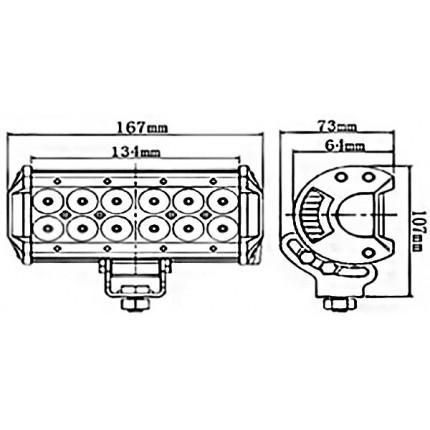 Светодиодная балка EA Light X C4 36W Дальний/Ближний