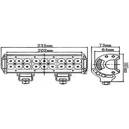 Светодиодная балка EA Light X C4 54W Дальний/Ближний