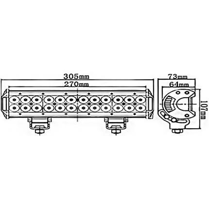 Светодиодная балка EA Light X C4 72W Дальний/Ближний