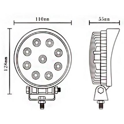 Светодиодная балка EA Light X D1 27W (Дальний)