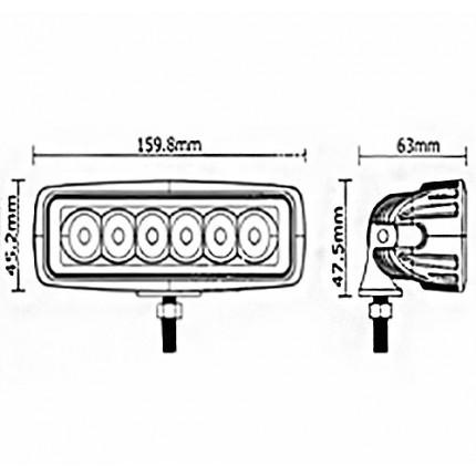 Светодиодная балка EA Light X D22 18W Дальний