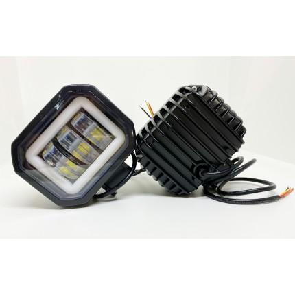 Комплект светодиодных балок  JR-O-30W+ДХО квадрат