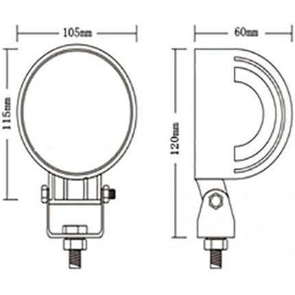 Светодиодная LED-Фара EA Light X 40021 Дальний