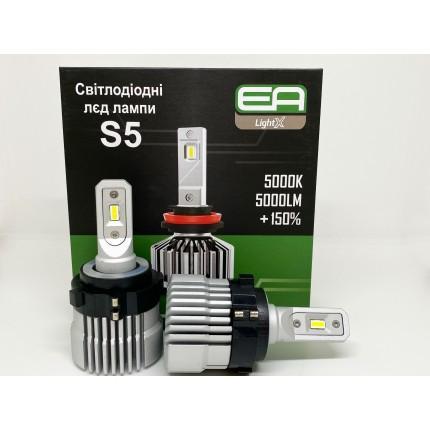 Комплект LED ламп EA Light X с переходником Volkswagen 5000lm модель S5 9-32V
