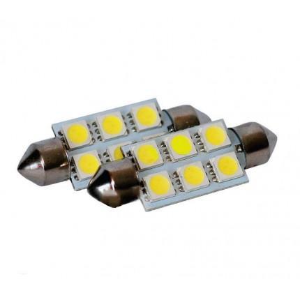 Софитная светодиодная лампа SVS SJ-39 6SMD 39 мм