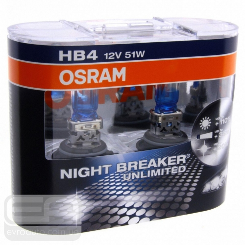Галогеновая лампа OSRAM Night Breaker HB4 +110% 12V 55W